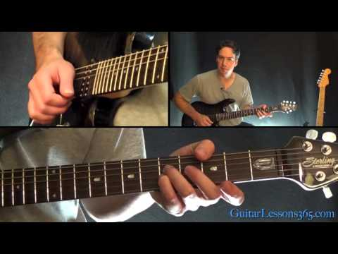 I Remember You Guitar Lesson - Skid Row - All Electric Guitar Rhythms