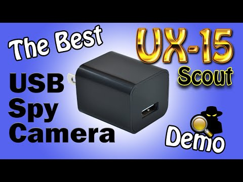 The Best Motion Detect USB Spy Camera In The World: 2018 UX-9 Scout