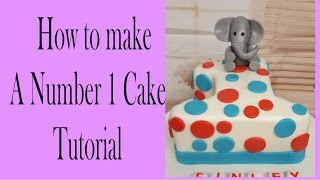 how to make a number 1 cake