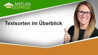 Textsorten Im Überblick - Zentralmatura Deutsch Jänner 2019 #29