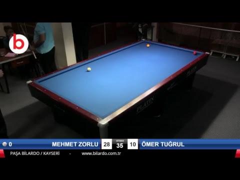 MEHMET ZORLU & ÖMER TUĞRUL Bilardo Maçı - KAYSERİ MASTERLAR  3 BANT TURNUVASI-2.TUR