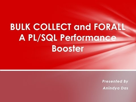 BULK COLLECT and FORALL-A PL/SQL Performance Booster