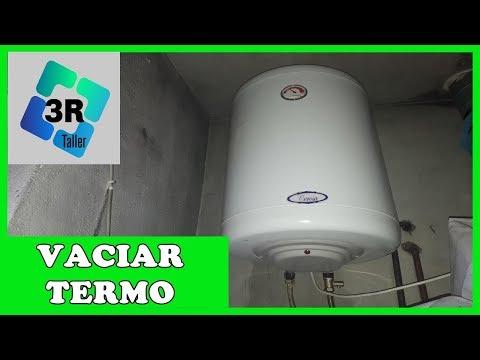 Como VACIAR termo de agua caliente (SIN LLAVE) FÁCIL Y RÁPIDO