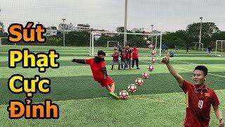 Thử Thách Bóng Đá Asian Cup 2019 sút phạt cầu vồng như Quang Hải U23 Việt Nam đấu Bùi Tiến Dũng Nhí
