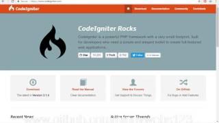 Codeigniter 3 tutorial for beginners TagLish po part 1