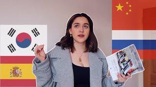 how I'm studying 4 languages (in depth) - spanish, korean, mandarin & russian