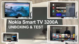 Nokia Smart TV 3200A 32 Zoll (80 cm) LED Fernseher (Full HD, Dolby Audio, HDR10)   Unboxing & Test