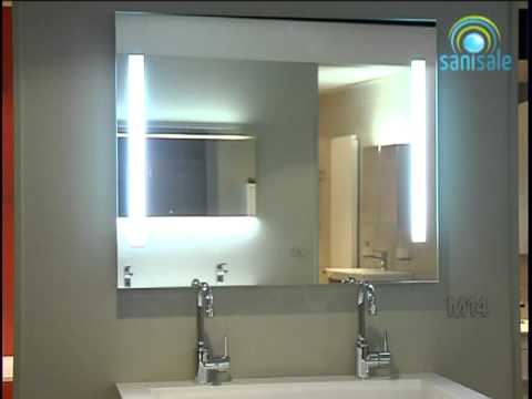 Santique pl - Mississipi - Spiegel 100x80 cm. bxh verticale verlichting