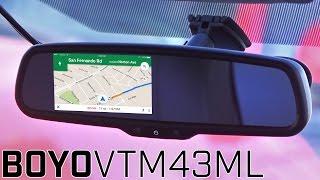 Boyo VTM43ML Rear View Mirrorlink Monitor - Display Smartphone on Mirror!
