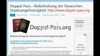 Want to retain your German passport and get another citizenship? Learn how - with this tutorial