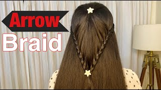 Arrow braid for kids | No heat hairstyle | Aasif Ahmed