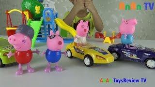 Đồ chơi Peppa Pig đi chơi công viên - Chơi cầu trượt - Xích đu - Bập bênh ❤ Anan ToysReview TV ❤