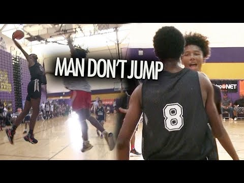Mikey Williams CAN'T BELIEVE HE JUMPED With Devontes Cobbs 😱