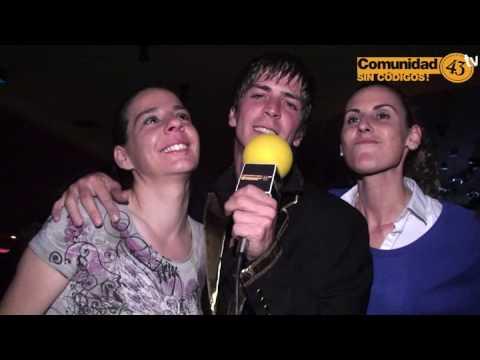 Entrevista en la discoteca La Luna a Rocio & Belen