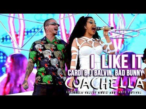 Cardi B Bad Bunny & J Balvin - I like it - Live at Coachella 2018 weekend 2