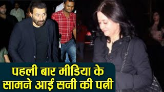 Sunny Deol's wife   Pooja Deol makes public appearance first time on Pal Pal screening | FilmiBeat