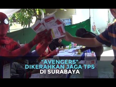 """""""Avengers"""" Dikerahkan Jaga TPS di Surabaya"""