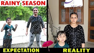 RAINY SEASON - Expectation vs Reality - Monsoon Aayu and Pihu Show