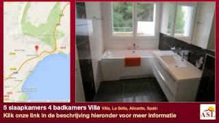 preview picture of video '5 slaapkamers 4 badkamers Villa te Koop in Villa, La Sella, Alicante, Spain'