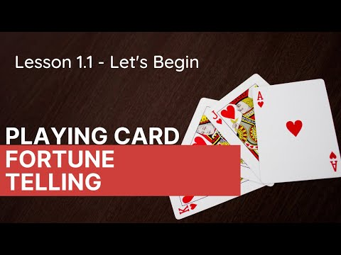 """Playing Card Fortune Telling 1.1 l """"For The Witch of Poor Memory"""" l Lesson 1.1"""