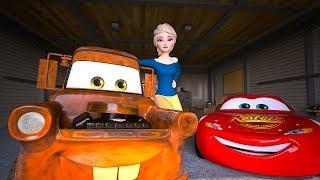 Elsa Unfreezes FROZEN Mater   Act of True Friendship   Cars Toys Movies Animated Short EPISODE 20