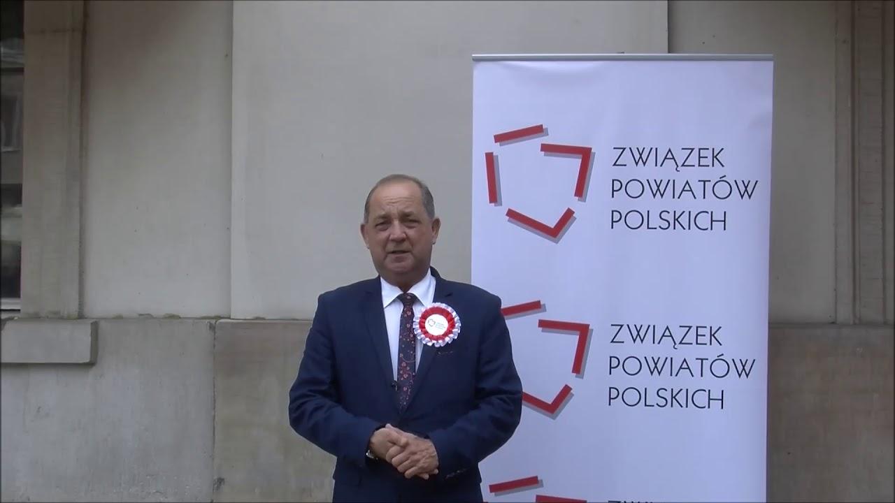 Starosta Marek Pławiak podczas Zgromadzenia Jubileuszowego ZPP