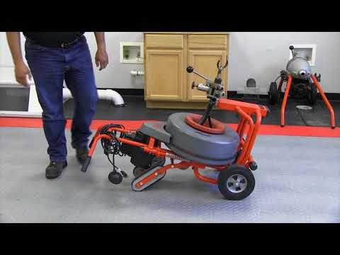 How to transport your RIDGID K7500 drum machine up or down stairs