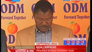 NASA co-principals addressing the press, NASA campaigns