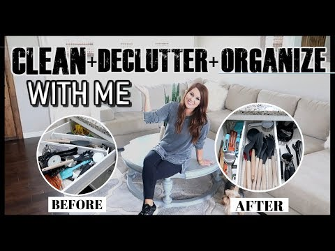 CLEAN, DECLUTTER, AND ORGANIZE WITH ME | ULTIMATE CLEAN WITH ME 2019 | Til Vacuum Do Us Part