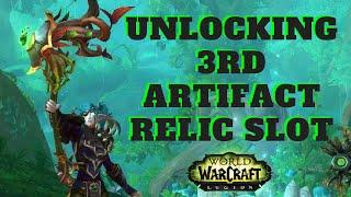 Unlocking 3rd Artifact Relic Slot for Druids
