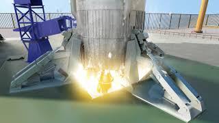 한국형발사체 발사 컴퓨터 그래픽 영상