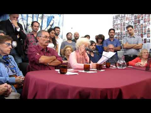 <p>Conferencia de prensa brindada por las Abuelas en su sede para dar a conocer con enorme felicidad el encuentro de una nueva nieta (129), hija de Norma Síntora, secuestrada embarazada de 8 meses, y de Carlos Alberto Solsona, con quien podrá finalmente abrazarse, luego de casi 42 años.</p>