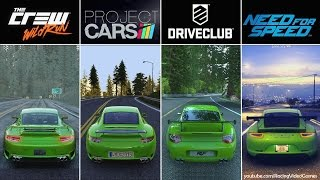 DriveClub vs. Need For Speed vs. The Crew vs. Project CARS | Graphics, Rain & Weather Comparison PS4