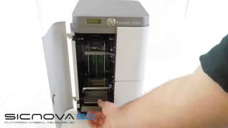 3D Systems사의 ProJet 1200 Micro-SLA 3D 프린터 개봉기 (스페인어)