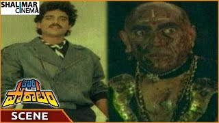 Aakhari Poratam Movie  Nagarjuna Destroys Amrish Puri With Injuries  Nagarjuna  Shalimarcinema