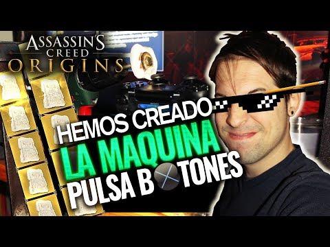 Assassin's Creed Origins | LA MÁQUINA PULSA BOTONES = PUNTOS DE HABILIDAD INFINITOS | RAY SNAKEYES