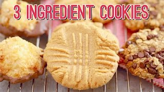 3 Ingredient Cookies: Peanut Butter Cookies Recipe & More!