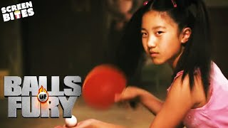 Randy Faces The Dragon In An Epic Table Tennis Match   Balls Of Fury   Screen Bites