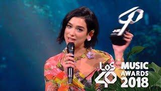 Dua Lipa Mejor Artista Internacional Los40 Music Awards