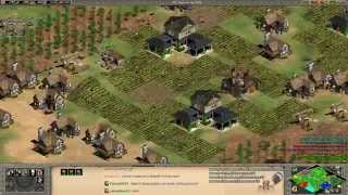 Aoe2 HD: 4v4 Arabia (Franks, Knight Rush) (TeamSpeak)