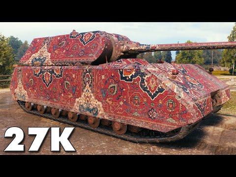 Maus - 27K DAMAGE BLOCKED - World of Tanks Gameplay
