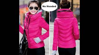 2019 Best new ladies fashion coat winter jacket women outerwear short wadded jacket female