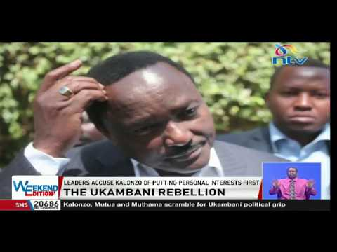 Kalonzo Musyoka faces political rebellion from all three Ukambani governors