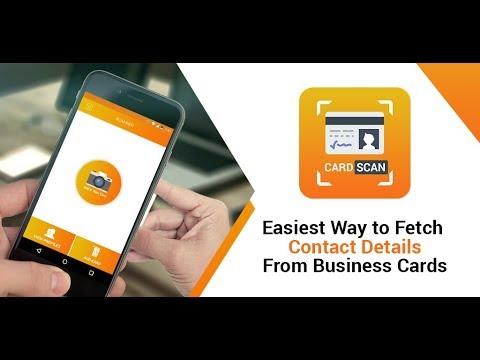 Visitenkartenscanner Kostenloser Kartenleser App Android