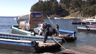 preview picture of video 'Bolivia 2 of 9   La Paz to Copacabana   Crossing Strait of Tiquina'