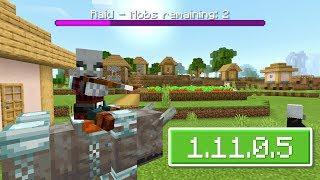 ВЫШЕЛ НОВЫЙ Minecraft PE 1.11.0.5 (Бета) - ОБНОВИЛИ РЕЙДЫ + ДОПОЛНИЛИ ТЕКСТУРЫ!