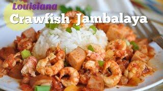 Louisiana Crawfish Jambalaya  -  Easy Crawfish Recipe With Only 5 Ingredients