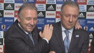 ザッケローニ監督のマネキン公開サッカーミュージアムに展示