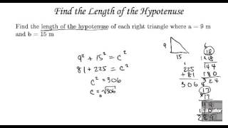 Algebra Tutorial Equations and Applications   Pythagorean Theorem