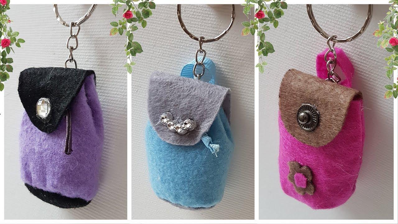 2 очень легких способа сделать оригинальный брелок - сумку